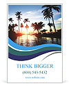 Beautiful sunset and palm trees Ad Templates