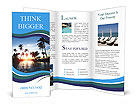 Beautiful sunset and palm trees Brochure Templates