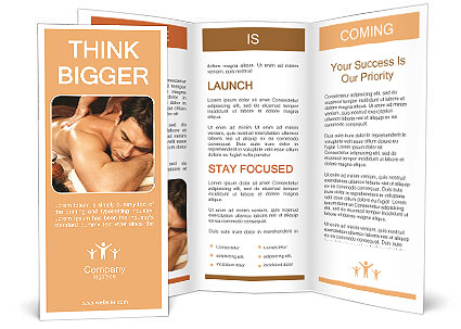 Masseuse Does Massage In The Spa Salon Brochure Template & Design