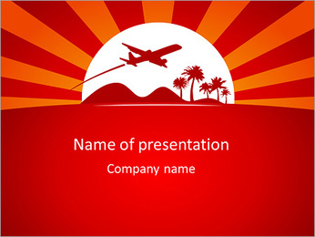 Best vacation deals advertising design template PowerPoint Template