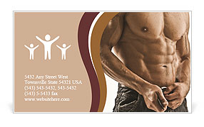 Muscle man Business Card Template