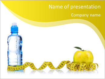 Bottled water for healthy life over a white background PowerPoint Template