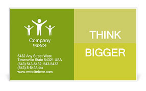 Leaf covered piggy bank - ecology and savings concept Business Card Template