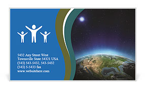 North America. Elements of this image furnished by NASA Business Card Templates