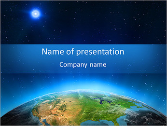 North America. Elements of this image furnished by NASA PowerPoint Template