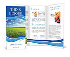 Field of spring grass and forest Brochure Templates