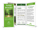 Beautiful green forest in summer Brochure Templates