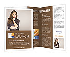 Portrait of an attractive fashionable young brunette woman Brochure Templates