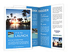 Beautiful sunset at a beach resort in the tropics Brochure Templates