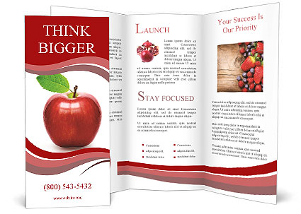 red apple isolated brochure template design id With apple brochure templates