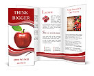 Red apple isolated Brochure Templates