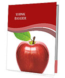 Red apple isolated Presentation Folder