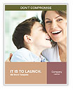 Family of ecstatic mother and son laughing Word Templates