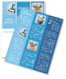 Open suitcase with a tropical island inside. Traveling Newsletter Template