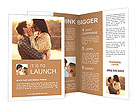 Young couple in love outdoor Brochure Templates