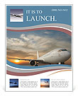Commercial airplane with sunset Flyer Templates