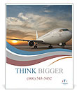 Commercial airplane with sunset Poster Template