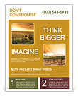 A Beautiful Sunset over a Barossa Vineyard Flyer Template
