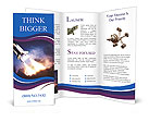 Space shuttle taking off on a mission Brochure Templates
