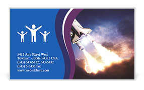 Space shuttle taking off on a mission Business Card Templates