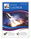 Space shuttle taking off on a mission Flyer Templates