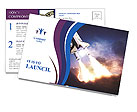 Space shuttle taking off on a mission Postcard Templates