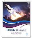 Space shuttle taking off on a mission Poster Templates