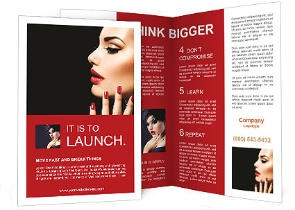 Beauty Woman With Perfect Makeup Beautiful Professional Holiday - Beautiful brochure templates