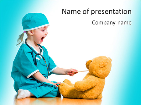 Adorable child dressed as doctor playing with toy over white adorable child dressed as doctor playing with toy over white powerpoint templates toneelgroepblik Gallery