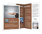 Hand holding digital touch screens Brochure Template