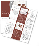 Human Resources concept: Business person through missing jigsaw puzzle Newsletter Template