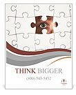 Human Resources concept: Business person through missing jigsaw puzzle Poster Templates