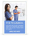 Portrait of a beautiful smiling nurse Ad Template