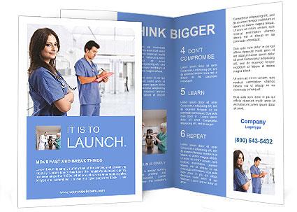 Portrait Of A Beautiful Smiling Nurse Brochure Template Design ID - Breastfeeding brochure templates