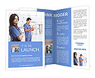 Portrait of a beautiful smiling nurse Brochure Templates