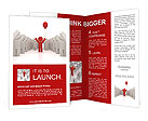 Illustration of the especial person, standing alone. Concept of unique. Concept of win. Brochure Templates