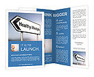 Illustration depicting a sign post with directional arrow containing a healthy lifestyle concept. Bl Brochure Templates