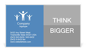 Illustration depicting a sign post with directional arrow containing a help and support concept. Blu Business Card Template