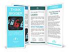 Security concept: Lock on digital screen, contrast, 3d render Brochure Template