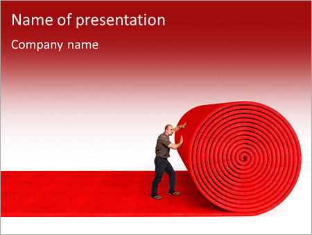 Red carpet powerpoint template smiletemplates man roll red 3d carpet on white background powerpoint template toneelgroepblik Image collections