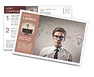 Young businessman has an idea Postcard Template