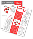Lifeline in the form of heart on white Newsletter Template