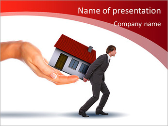 Collage symbolizing the real estate business. Elements of the business. PowerPoint Template