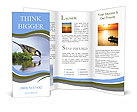 Thirsty bird on the river bank. Brochure Templates