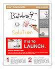 Idea or innovation change problem to solution concept written by business hand Flyer Templates