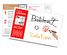 Idea or innovation change problem to solution concept written by business hand Postcard Template