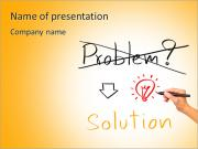 Idea or innovation change problem to solution concept written by business hand PowerPoint Templates