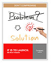 Idea or innovation change problem to solution concept written by business hand Word Template