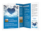 Heart on the sky Brochure Templates