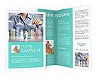Building in a hand businessmen Brochure Templates